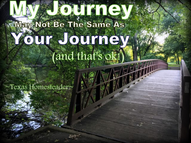 Your simple life journey may look different than someone else's. Let's support others on their path to simplicity! #TexasHomesteader