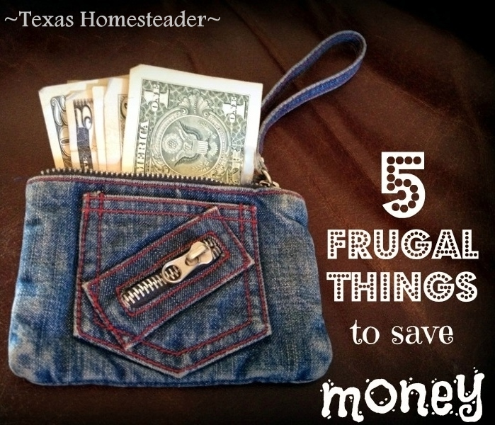 Frugality can be eco friendly too. Decluttering, coupons, gifting, etc. Come see 5 frugal things we did to save money this week #TexasHomesteader