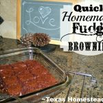 Fudge Brownies. Are you hosting your family's holiday celebration this year? I'm sharing my favorite holiday cooking tips & quick & easy recipes. #TexasHomesteader