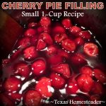 Cherry pie filling. Are you hosting your family's holiday celebration this year? I'm sharing my favorite holiday cooking tips & quick & easy recipes. #TexasHomesteader