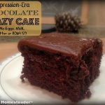 Depression-Era Chocolate Crazy Cake. Top 10 Homesteading Posts of 2016 - Saving money, Homemade Soap Recipes, DIY Face Powder, Canning Jar Storage Solution & MORE! #TexasHomesteader
