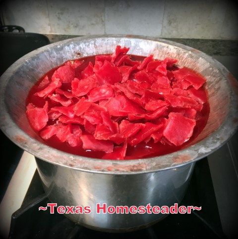 A heavy metal pie pan can be used as a double-boiler for melting wax. #TexasHomesteader