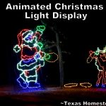 Drive Through Light Display. We opted for an experience gifts over toys for our grandchildren at Christmas. Come see examples of the fun times we've spent with them. #TexasHomesteader