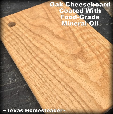 How to make your own oak cutting board. We presented these cheeseboards with our homemade cheeses as a very personal homemade gift. #TexasHomesteader