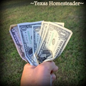 Finding Free CASH. Finishing up a two-part series on how we successfully keep our monthly income requirement LOW to be able to live w/o a corporate paycheck. #TexasHomesteader