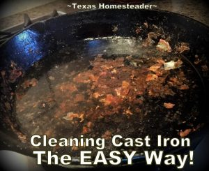 Easiest way to clean cast iron