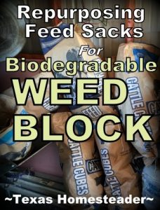 Free Biodegradable Weed Block. It's easy to find little ways to save money. It just takes a different mindset. Come see 5 frugal things we did to save money this week. #TexasHomesteader
