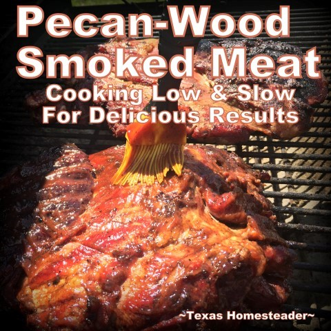 Delicious Smoked Pork using pecan wood smoke. Delicious. And shredding all that meat can be done in minutes using our shortcut. #TexasHomesteader