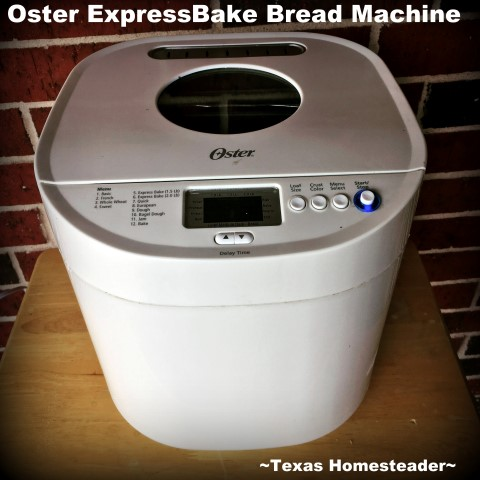 Oster ExpressBake Bread Machine. Bread Machine recipe for a delicious 2-lb loaf of homemade oatmeal-honey bread. Use your bread machine to simplify bread-baking day! #TexasHomesteader