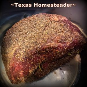 Pork roast in my Instant Pot. Wild hogs are destructive & plentiful. But they're just escaped domestic pigs - they're pork! See how we successfully trap them #TexasHomesteader