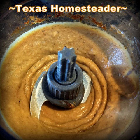 Hummus made from leftover cooked beans. Serving homemade meals every day doesn't have to be hard or time consuming. There are lots of easy shortcuts. Come see! #TexasHomesteader