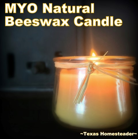It's easy to make your own natural beeswax jar candles. It's fun, it's easy, and it's natural. And who doesn't love a beeswax candle?? #TexasHomesteader