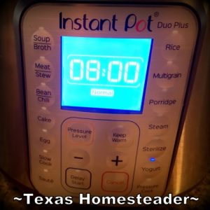 Incubate yogurt 8 hours. Instant Pot Yogurt - so easy! I'm sharing step-by-step instructions with photos to make your own creamy yogurt. #TexasHomesteader
