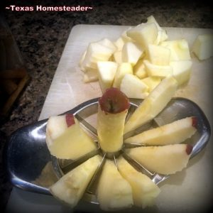 Cut apples quickly with this trick. I made a simple dessert of fried apples, with a twist. I added a little spiced rum for extra flavor & moisture. #TexasHomesteader