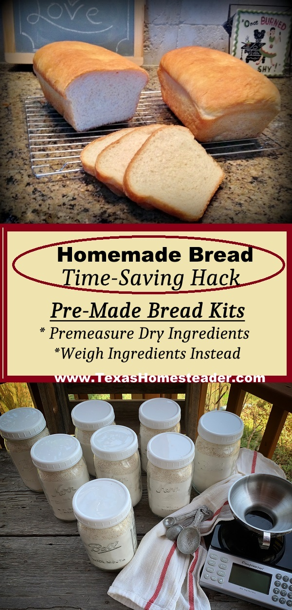 Whether using a bread machine or mixing & baking it up the old fashioned way, these bread ingredient packets make homemade bread a breeze! #TexasHomesteader
