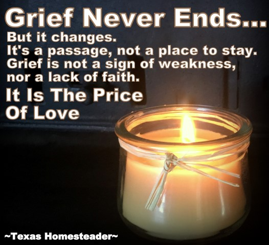 Grief Never Ends... It Is The Price Of Love #TexasHomesteader