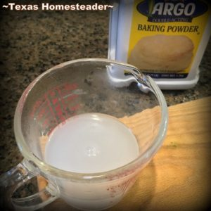 Do you wonder if that container of baking powder is still good? Here's a quick & easy test to show you whether it's safe to use or you should throw it out. This baking powder is no longer good. #TexasHomesteader