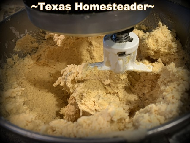 Mixing the masa dough. It's time consuming to make homemade tamales. But it's very easy. Come see my step-by-step directions complete with photos and recipe. #TexasHomesteader