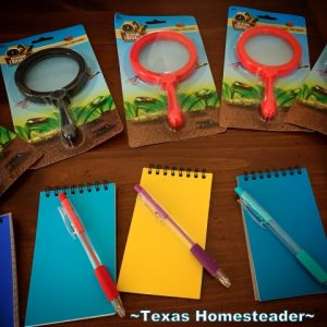 Mystery-themed props for Escape room invitation. We try to gift experience gifts where possible. This year we gifted our grandkids an escape room experience. We all had a blast! #TexasHomesteader