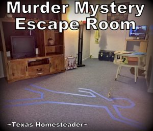 Murder mystery escape room. We try to gift experience gifts where possible. This year we gifted our grandkids an escape room experience. We all had a blast! #TexasHomesteader