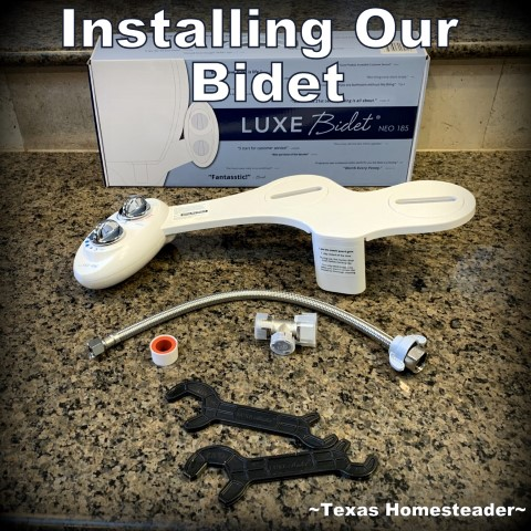 I've wanted a bidet for years. We decided on a Luxe Neo 185 model that has dual nozzles and adjustable settings. Installation was fast too. But there's an issue with some toilet seats #TexasHomesteader