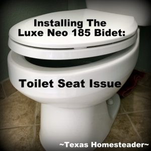 I've wanted a bidet for years. We decided on a model that has dual nozzles and adjustable settings. Installation was fast too. But there's an issue with some toilet seats #TexasHomesteader