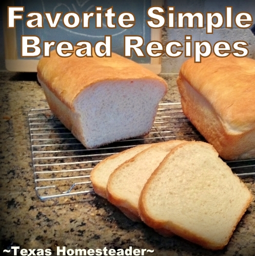 Come see all our favorite bread recipes in one easy-to-read list. Traditional bread, tortillas, biscuits and more! #TexasHomesteader