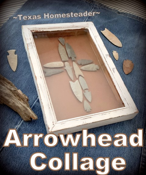 I made this sentimental gift for my mother using just what we had at the house. I designed an arrowhead cross to go into a frame that was painted & distressed #TexasHomesteader