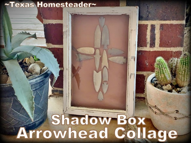 Arrowhead collage in the shape of a cross. I'm showing how to make an arrowhead collage. This is the second one I've done with my brother's arrowheads. It turned out beautifully. #TexasHomesteader