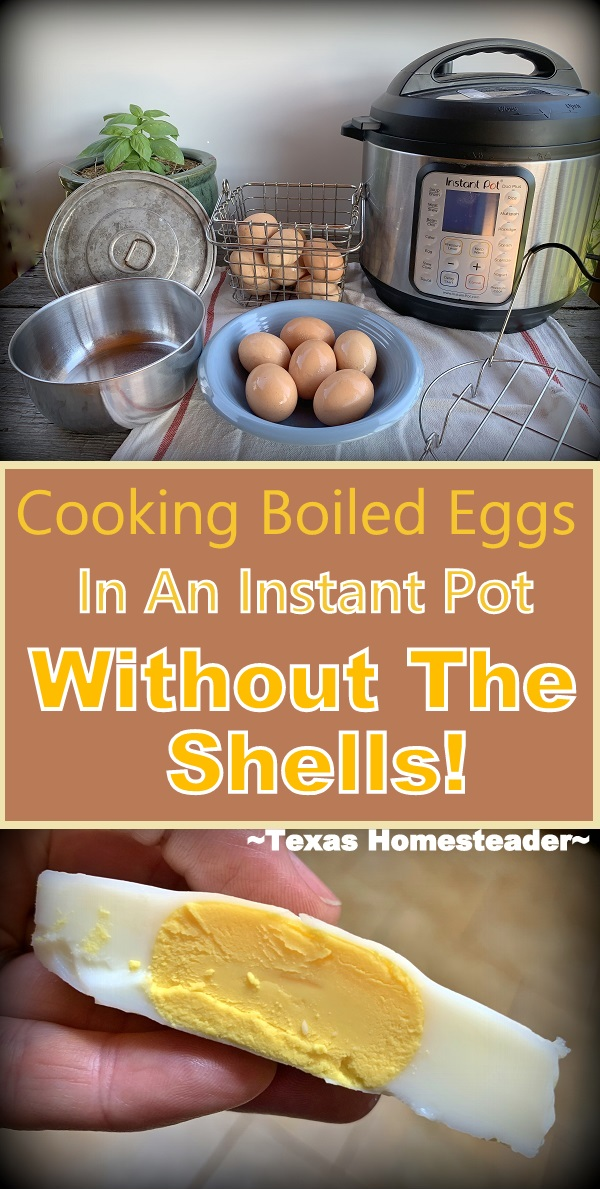 Never Peel Boiled Eggs Again! We like to add chopped boiled egg to our salads for the protein. And using this kitchen hack I don't even have to shell the eggs! #TexasHomesteader