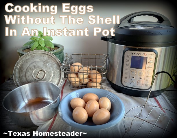 Easier 'boiled eggs' for egg salad or potato salad. Cook eggs in an Instant Pot without their shells #TexasHomesteader