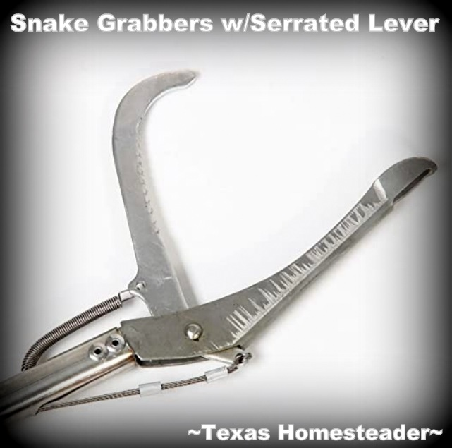 "Snake grabber serrated lever. Easily capture and relocate a snake, but do it safely. We've found the 47"" snake grabber to be the best tool to relocate snakes safely. #TexasHomesteader"