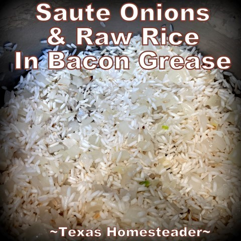 This is the easiest Texas-Style Spanish Rice recipe ever. Long-grain rice, chunky picante salsa, onions, garlic & broth. #TexasHomesteader