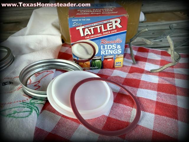 Tattler reusable canning jar lids and rings. #TexasHomesteader