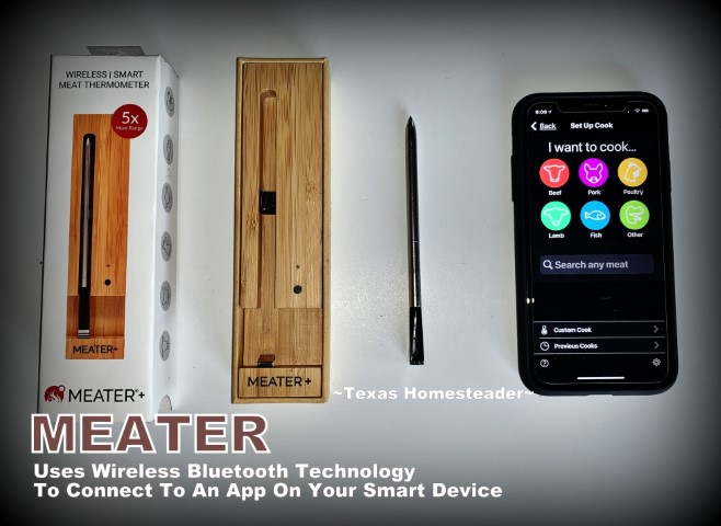 The Meater is a truly wireless meat thermometer that makes grilling or baking meat to the perfect temperature a breeze! #TexasHomesteader
