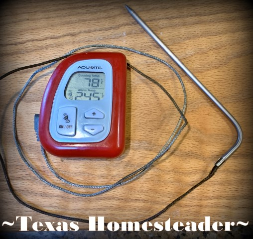 Digital wired food thermometer. #TexasHomesteader